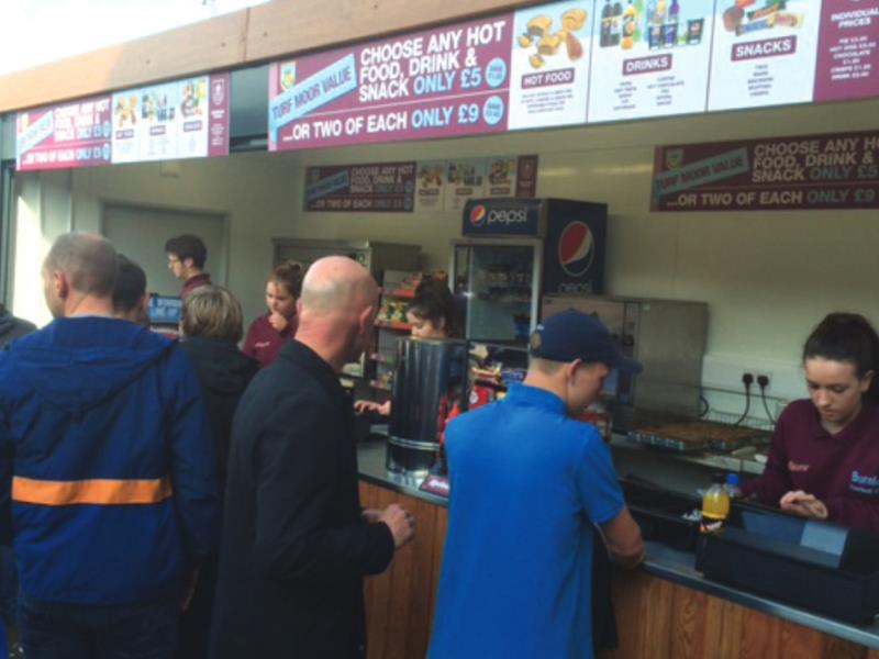 An example of one of our kiosks in use at Turf Moor, Burnley FC's football ground.